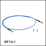 Ø100 µm纤芯,0.26NA氟化铟中红外光纤跳线